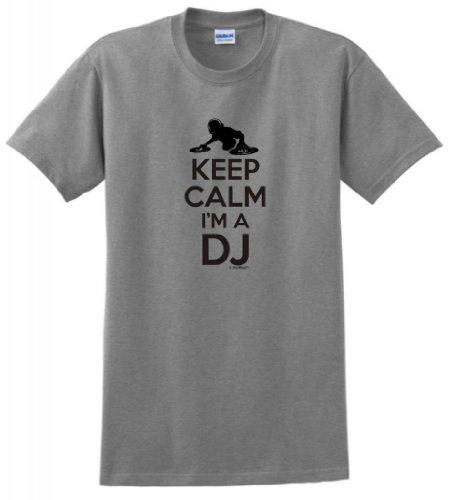 Keep Calm I'M A Dj T-Shirt Xl Sport Grey