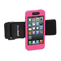 TuneBand for iPhone 5, Premium Sports Armband with Two Straps and Two Screen Protectors (Pink)