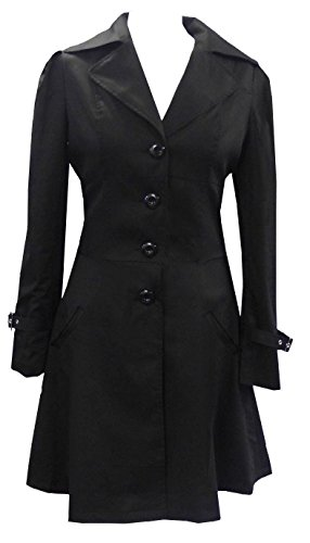 Black - Classic Cotton Victorian Gothic Steam Punk Vampire Corset Riding Jacket Coat Size 20 (Plus Size Victorian Costumes)