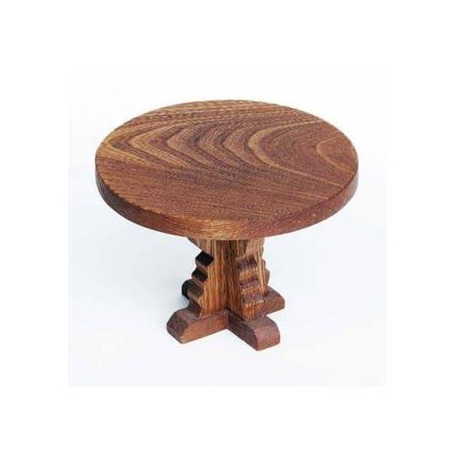 丸テーブル  (ミニチュア家具の木のおもちゃ)  Wooden toys furniture