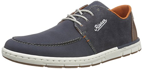 Rieker 18935 Sneakers-Men, Herren Sneakers, Blau (denim/navy/kastanie/weiss/14), 42 EU thumbnail