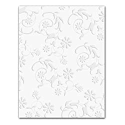 White Embossed Floral - Gift Enclosure Cards (set of 12)