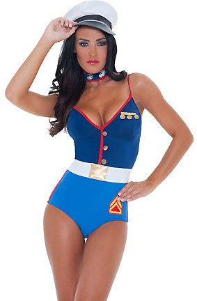 3WISHES 'The Proud Costume' Sexy Marine Halloween Costumes for Women