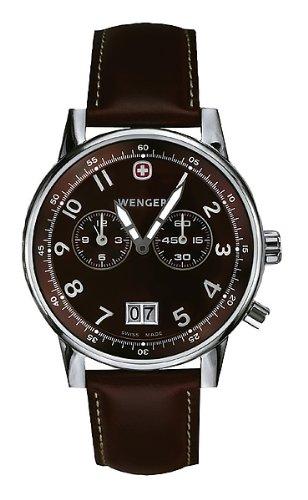 [ウェンガー]WENGER 腕時計 コマンドシティ ブラウン文字盤 ブラウンレザーストラップ W74714 メンズ [正規輸入品]