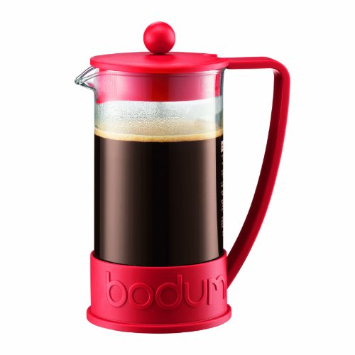 Bodum New Brazil 8-Cup French Press Coffee Maker, 34-Ounce, Red
