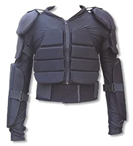 a1j Soft ARMOR BODY PROTECTOR Safety JACKET Armour All Sizes, Black, S