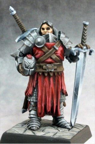 Reaper Miniatures 60160 Pathfinder Series Mendevian Crusader Miniature - 1