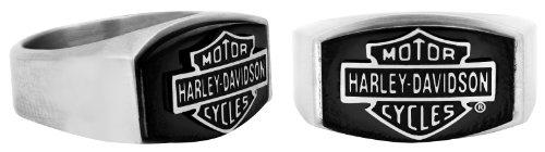 Harley-Davidson® MOD® H-D Black Steel Ring HSR0006