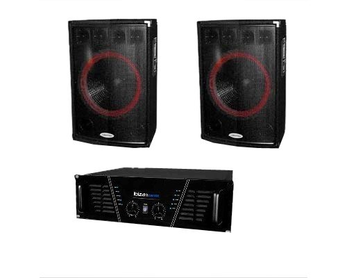 pack sono dj 1600w ampli enceintes dj 421pc sets de pa. Black Bedroom Furniture Sets. Home Design Ideas