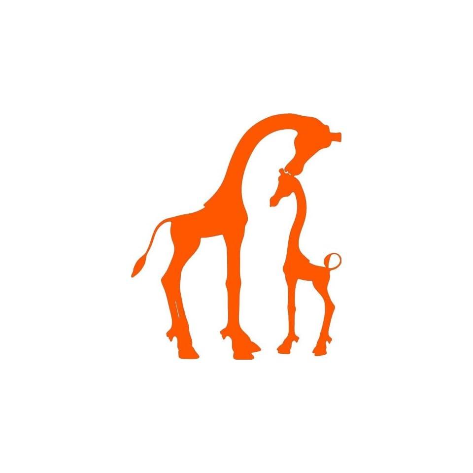 Design with Vinyl Design 221 Giraffe   Animal Sticker   Vinyl Wall Decal, 20 Inch By 26 Inch, Orange