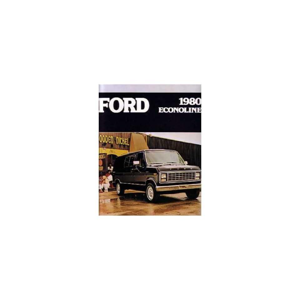 1980 Ford Econoline Sales Brochure Literature Book Piece Dealer Advertisement