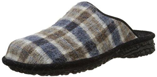 Romika Mikado H 46, Pantofole non imbottite uomo, Multicolore (Mehrfarbig (blau-braun 569)), 43
