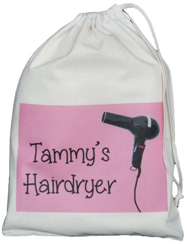 personalised-hairdryer-small-storage-bag-pink-design-small-natural-cotton-drawstring-bag-supplied-em