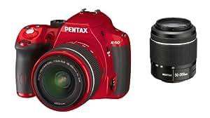 Pentax K50 Appareil photo numérique Reflex 16 Mpix Kit + Objectif 18-55 mm + Objectif 50-200 mm Rouge