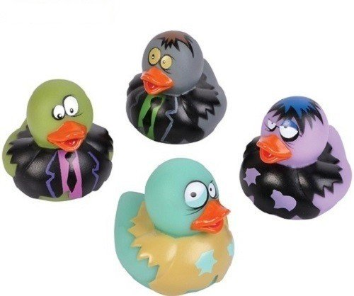 4 Count Zombie Style Rubber Ducks