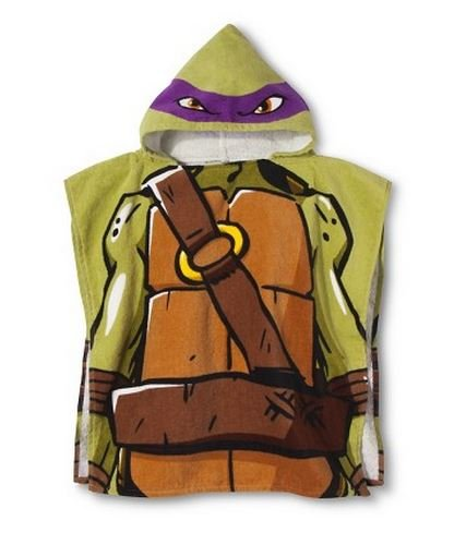 Nickelodeon Teenage Mutant Ninja Turtles Donatello Hooded Towel - 1