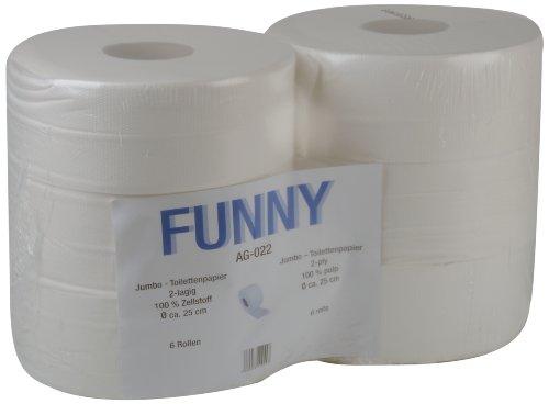 funny-jumbo-toilettenpapier-2-lagig-hochweiss-durchmesser-circa-25-cm-1er-pack-1-x-6-stuck