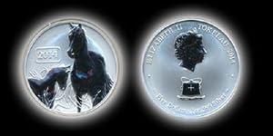 Silver 2014 Horse 1 Ounce Coin from Tokelau