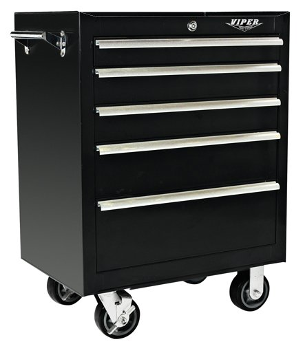 Images for Viper Tool Storage V2605BLR 26-Inch 5-Drawer 18G Steel Rolling Tool Cabinet, Black