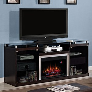 "ClassicFlame Albright 26"" Espresso Media Console Electric Fireplace Cabinet Mantel - 26MM9404-E451"