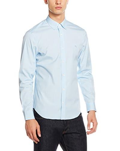 Burberry Camicia Uomo [Blu Chiaro]