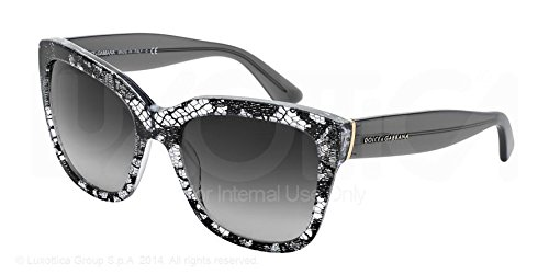 D&G Dolce & Gabbana Women'S Lace Square Sunglasses, Black Lace & Grey Gradient, 56 Mm