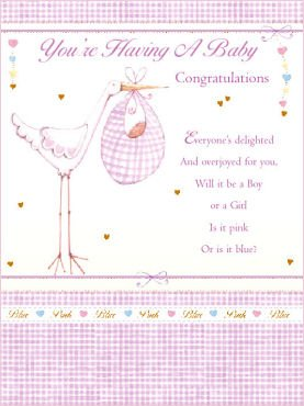 You're having a Baby Greeting Card - Congratulations