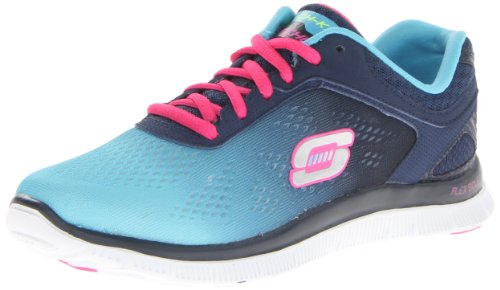 Skechers Women's Flex Appeal Style Icon Trainers, Blue - Blau (NVBL), 35 EU