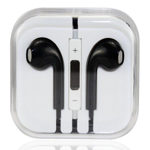 Leexgroup®Newest 3.5Mm Zipper Earbuds Earpods Earphone Headset With Remote, Volume Control And Mic Microphone For Apple Ipod Ipad 2/3/4/Air/Mini Iphone 4/4S/5/5C/5S Samsung S2/S3/S4/Note 2/Note 3 Htc Sony Lg Nokia Blackberry Mp3 Mp4.... (Black)