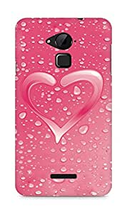 Amez designer printed 3d premium high quality back case cover for Coolpad Note 3 (Heart drops water wilderness surface)