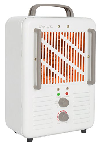 Comfort Glow EUH341 Milk house Style Utility Heater in 2-Tone Cream/Chocolate Finish, 1500-watt