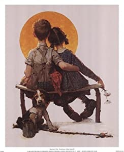 Sunset - Poster by Norman Rockwell (12 x 15)