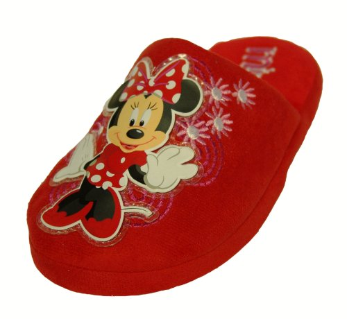Girls Disney Minnie Mouse Red Slippers Size 1 Infant Kids Style 025