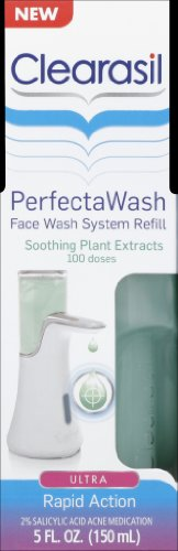 clearasil face wash Clearasil PerfectaWash Automatic Acne Treatment Face Wash Refill Soothing Plant Extracts, 5 Ounce