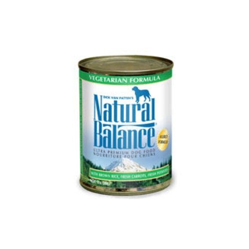 NATURAL BALANCE PET FOODS - VEGETARIAN DOG CAN 12/13OZ Case
