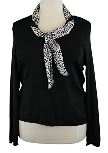 marina-rinaldi-by-maxmara-diritta-black-sweater-w-animal-print-scarf-xl