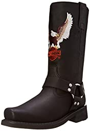 Harley-Davidson Men\'s Darren Motorcycle Harness Boot,Black,8.5 W US