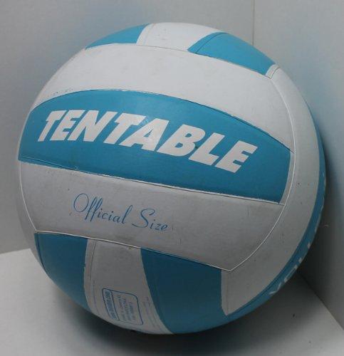 Volleyball gummiert official Größe 5, Beach Strand Volley Spiel Ball sehr griffig (blau-weiß)