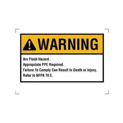 Ideal 44-892 Arc Flash Warning Labels