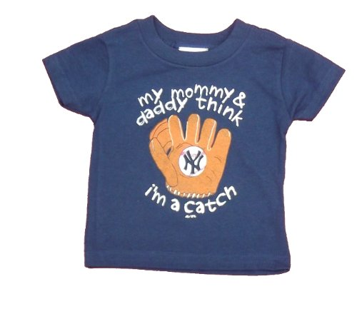 New York Mets Infant Boys Tee Navy Blue By Majestic (18Mos) front-996462