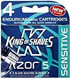King of Shaves Azor Five Sensitive Replacement Blades Pack of 4