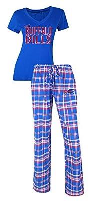 Buffalo Bills NFL Tiebreaker Women's T-shirt & Flannel Pajama Sleep Set