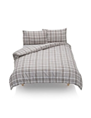 Brush Checked Bedset