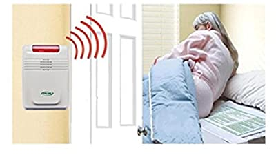 Cordless Bed Alarm System - No Alarm in Patient Room - Plus Kerr Absorbent Protector Pads
