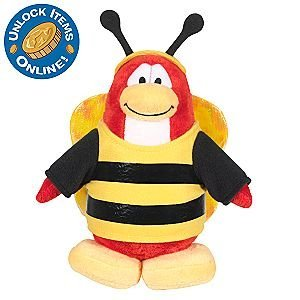 Club Penguin 6 1/2'' Limited Edition Penguin Plush - Bumble Bee - 1
