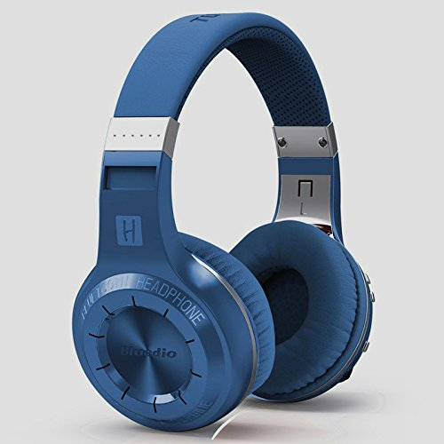 On The Way® Turbine Hurricane H Bluetooth 4.1 Wireless Stereo Headphones Headset Over-Ear Wireless Powerful Bass Earphones Headphones Earbud Earpiece For Iphone Samsung Htc Nokia Balckberry And Other Android Mobile Phones And Pc(Blue)