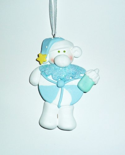 Ornament, Christmas - Baby, Blue Candy, Personalized front-718827