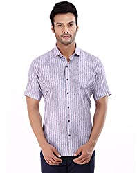 baaamboos Formal Shirts Rich Linen HRL0305 (Gray, 40)