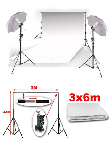 BPS Background Support Stand & 3m x 6m White