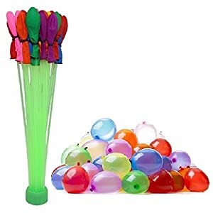 NaiceWater Balloons 6 Different Colors Fill in 60 Seconds 200 Total Water Balloons